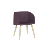 Nest Soft Tub Chair - 4 Leg Timber
